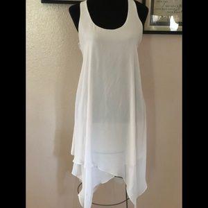 White lined BCBG Paris dress